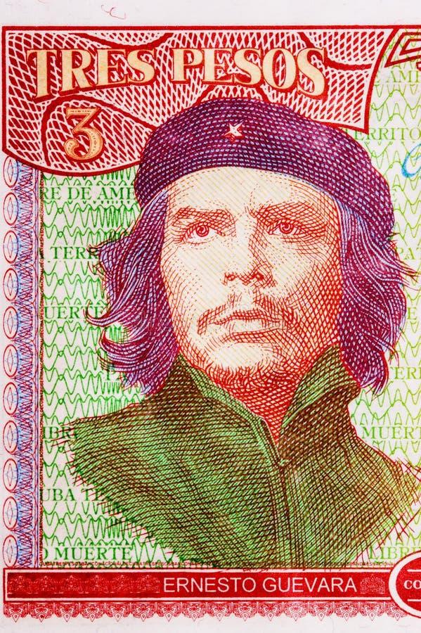 che Ernesto guevara pesos kubański portret s obraz stock