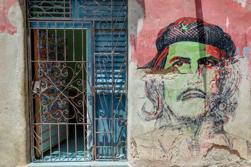 Che Guevara街道画 免版税库存照片