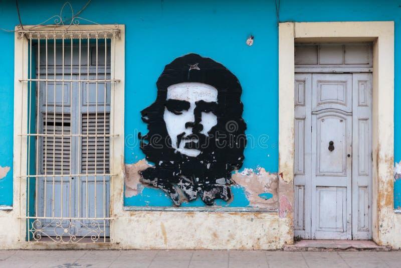 Che Guevara街道画 免版税库存图片