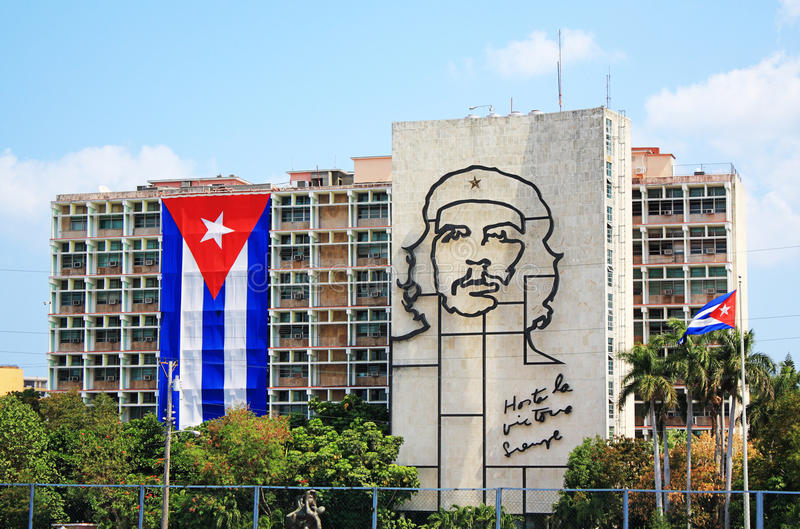 Che Guevara in Cuba. Image of Che Guevara in Revolution Square, Havana, Cuba stock photo