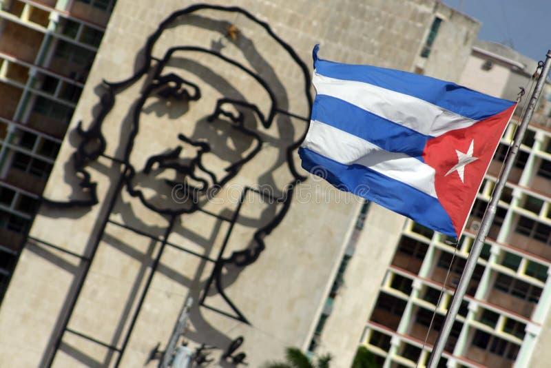 Che Guevara e indicador de Caban fotos de archivo libres de regalías