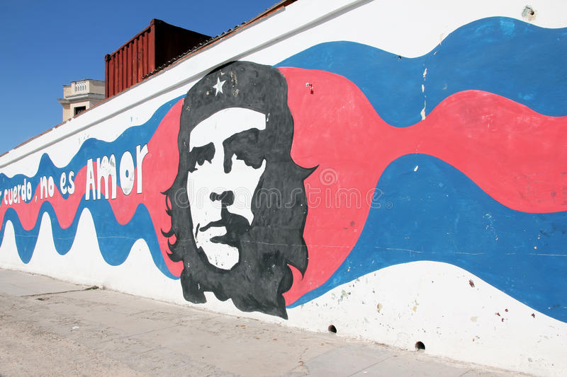 Che Guevara Graffiti. Che Guevara was a major and popular figure of the Cuban Revolution.His image can be found all over Cuba; on walls, on stamps clothes and stock photography