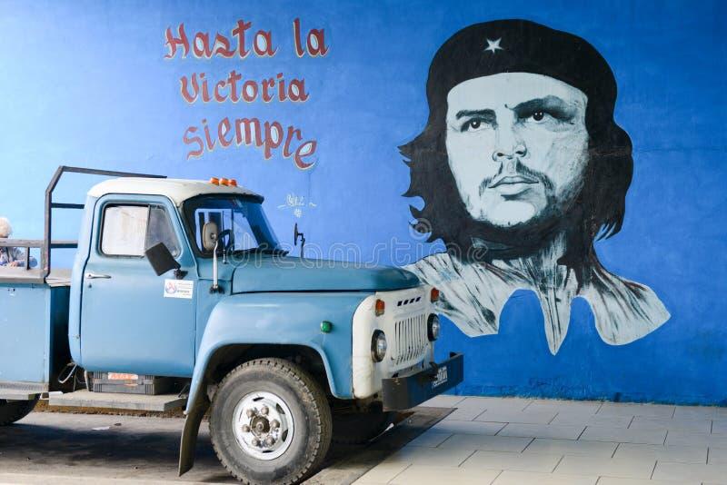 Che Guevara image. Santa Clara, Cuba - 17 january 2016: Che Guevara image, one of the icons of the Cuban Revolution after 1959 royalty free stock image