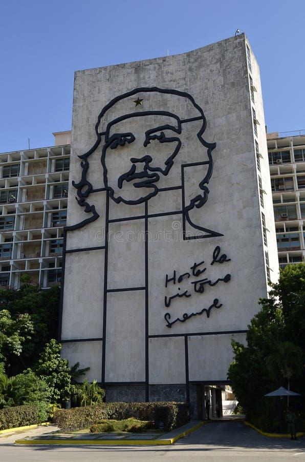 Che Guevara malowidło ścienne w Hawańskim (Kuba) zdjęcie stock