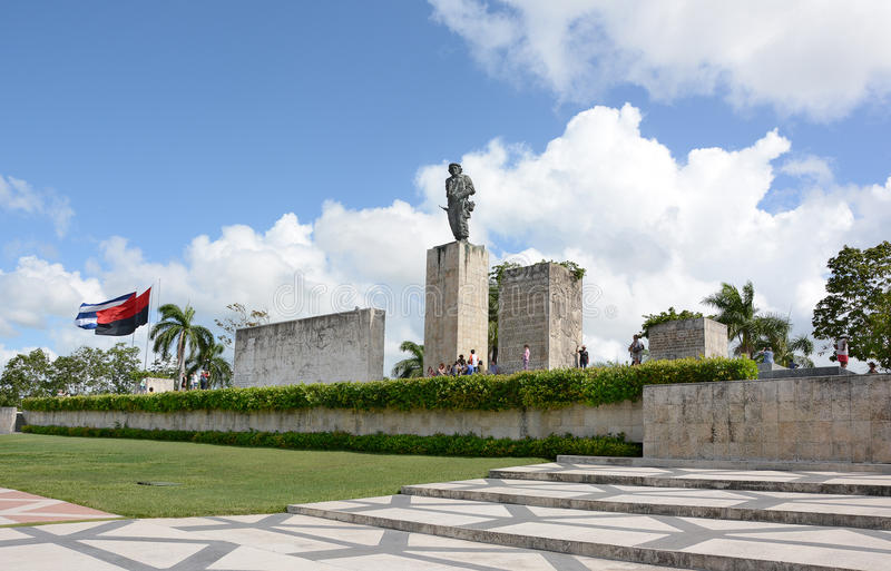 The Che Guevara Mausoleum. SANTA CLARA, CUBA - JULY 26, 2016: The Che Guevara Mausoleum. Local citizens volunteered over 400,000 hours to help with the stock images