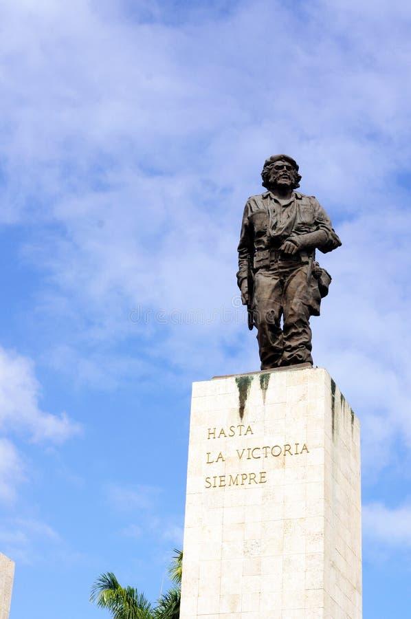 Che Guevara Monument. Che Guevara free-standing and full-length statue in Santa Clara in Cuba royalty free stock photos