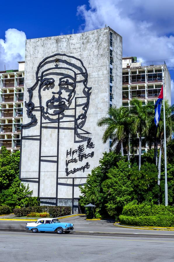 Che Guevara monument Havana Cuba in Revolution Square. 17 December 2015 royalty free stock images