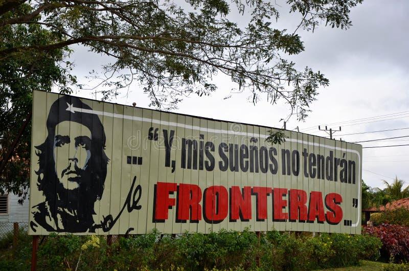 Che Guevara Motto: och min drömwonÂ't har gränser royaltyfria bilder