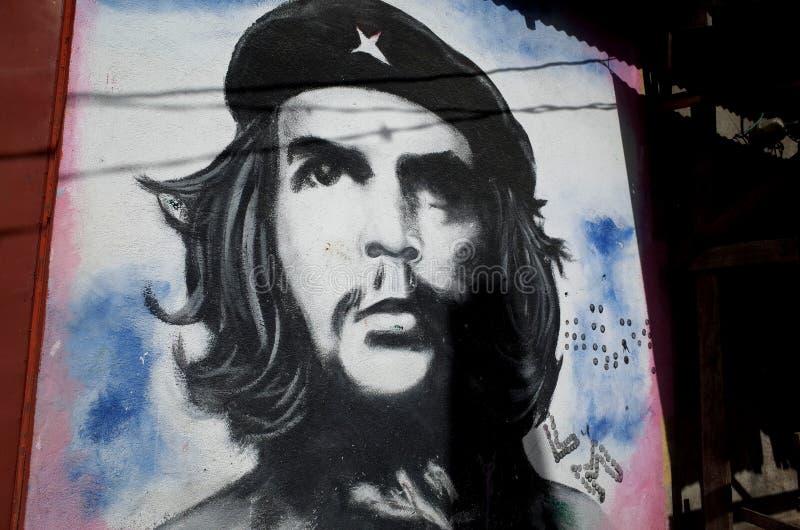 Che Guevara mural. A political mural in Esteli, Nicaragua, depicting Che Guevara stock image