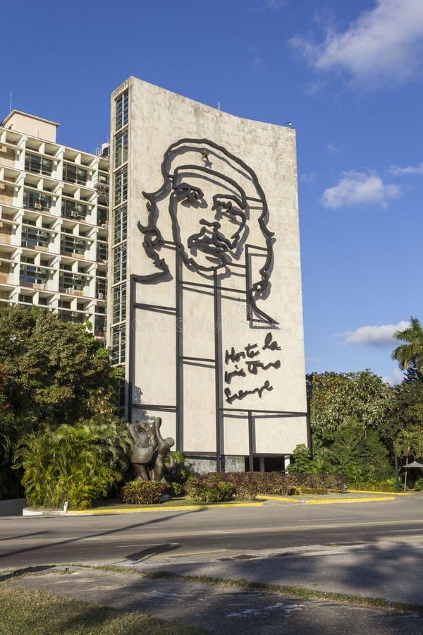 Che Guevara na ścianie obrazy royalty free
