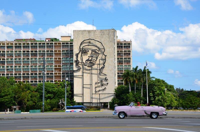 Che Guevara przy rewolucja kwadratem, Hawańskim zdjęcia stock