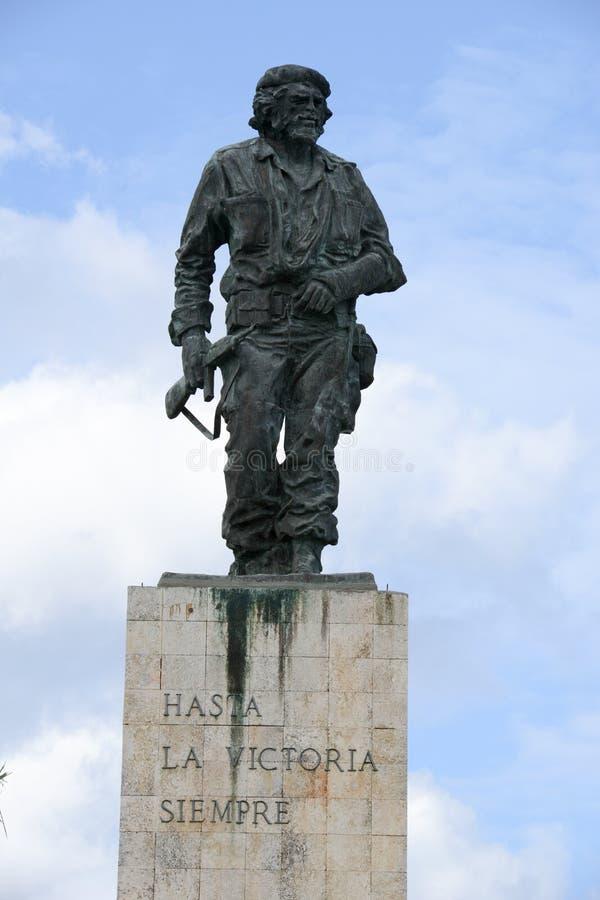 Che Guevara statue and the mausoleum in Revolution Square. At Santa Clara on Cuba stock photo