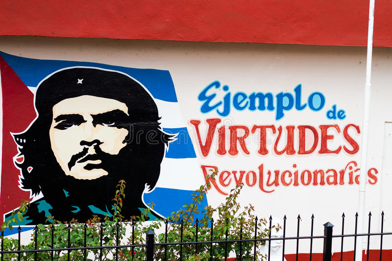 Che Guevara street graffiti royalty free stock images