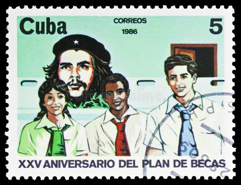 Che Guevara, Studenten, Stipendium-Programm, 25. Jahrestag serie, circa 1986 lizenzfreie stockbilder