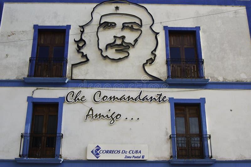 Che guevara stylizujący na ścianie zdjęcie royalty free