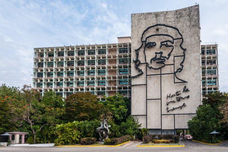 Che Guevara sulla parete a Avana, Cuba fotografie stock libere da diritti