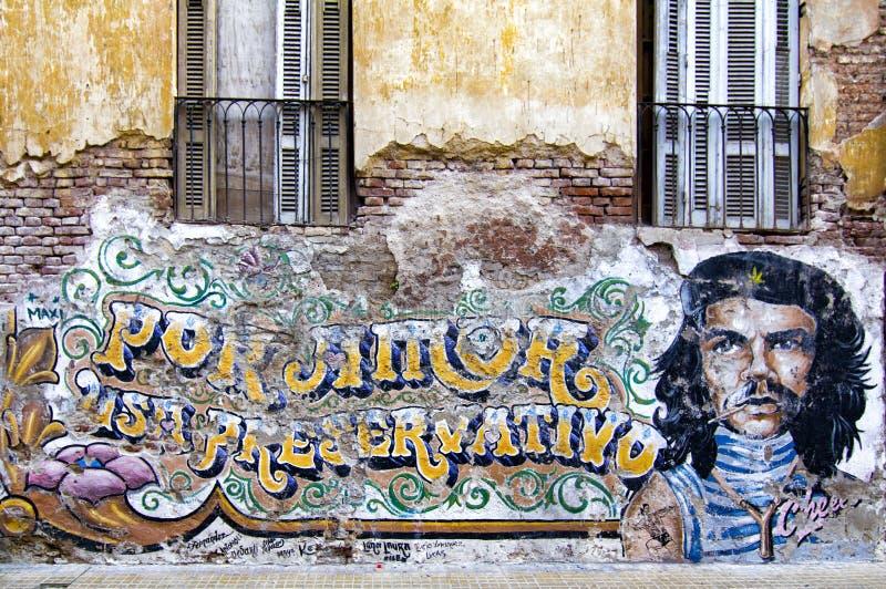 Che Guevara-Wandbild stockbild