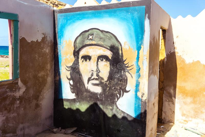 Che Guevara-Wandgemälde auf Wand lizenzfreie stockbilder