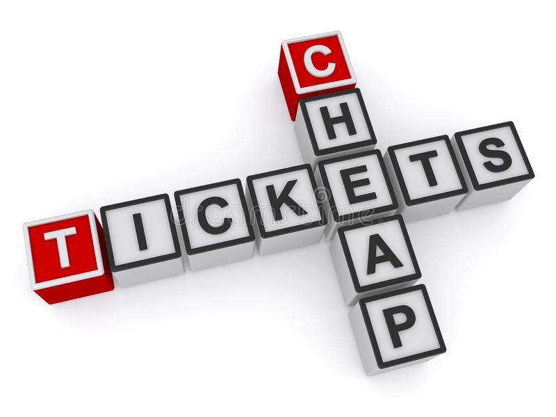 Cheap tickets on white. Background vector illustration