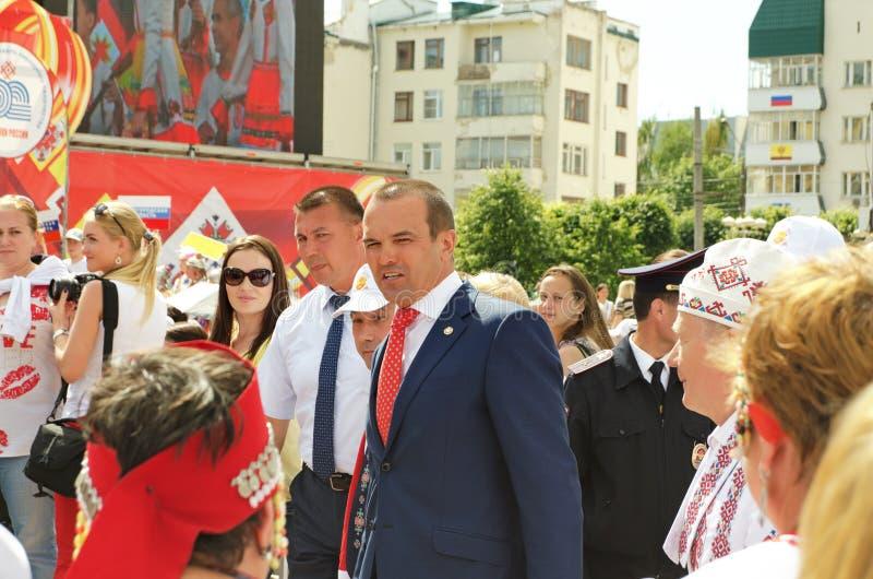 Cheboksari, Rusia - 24 de junio de 2016: Presidente de Chuvashia Ignat imagen de archivo libre de regalías