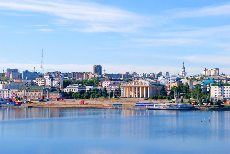 Cheboksary, overlooking the bay. Cheboksary, Chuvash Republic, Russian Federation stock image