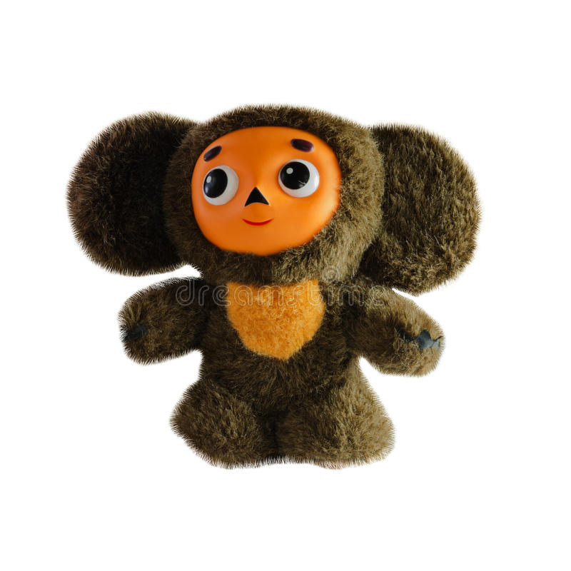Cheburashka, Russian cartoon character. on an white background. Cheburashka, Russian cartoon character. on an background royalty free stock images
