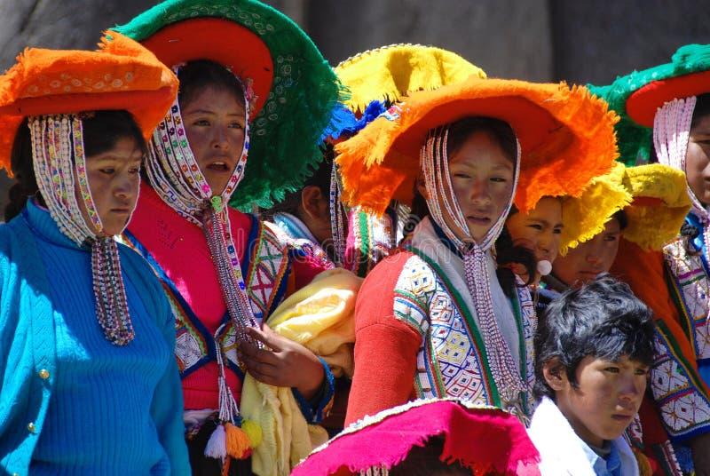 Checaspampa传统衣物 库存图片