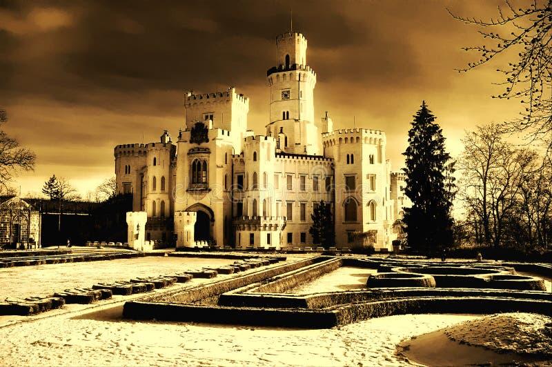 chech замока стоковое фото rf