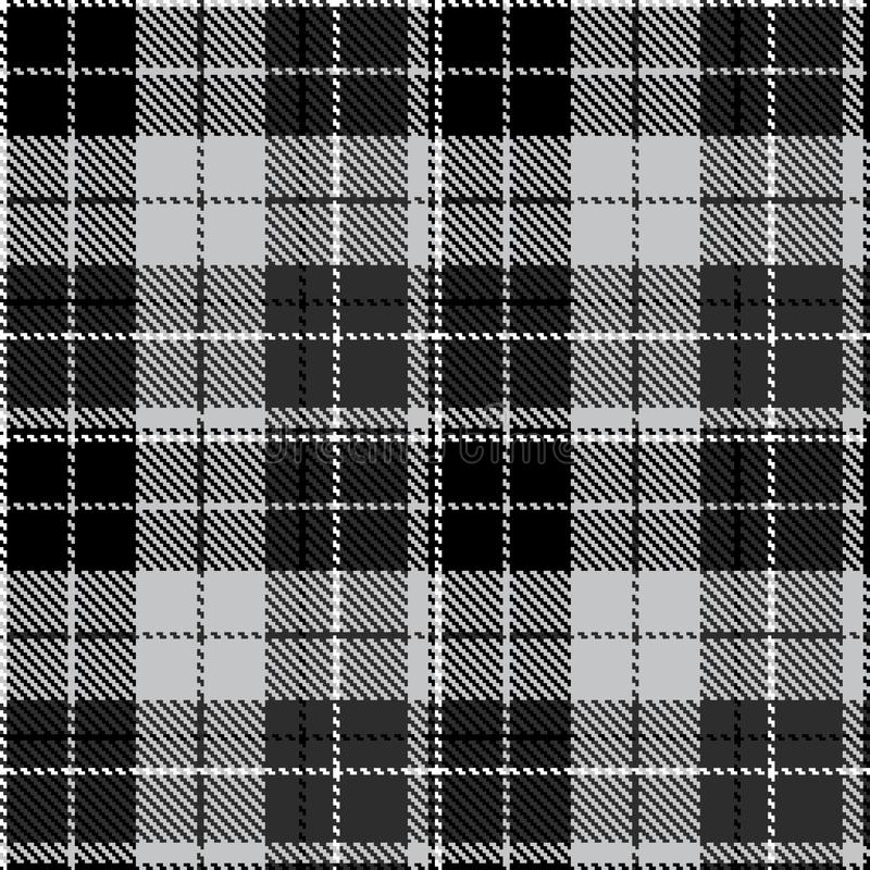 Check black grey fabric textil royalty free illustration