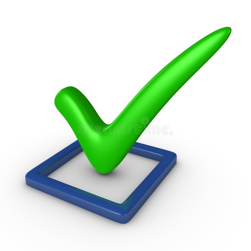 Check-box com um sinal ilustração do vetor