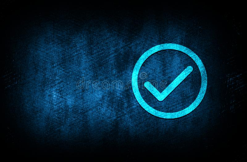 Check box icon abstract blue background illustration digital texture design concept. Check box icon abstract blue background illustration dark blue digital royalty free stock photography