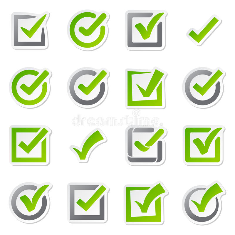 Check box icons of vote mark sign choice yes symbol and correct design right agreement voting form button question. Choose success graphic vector illustration vector illustration
