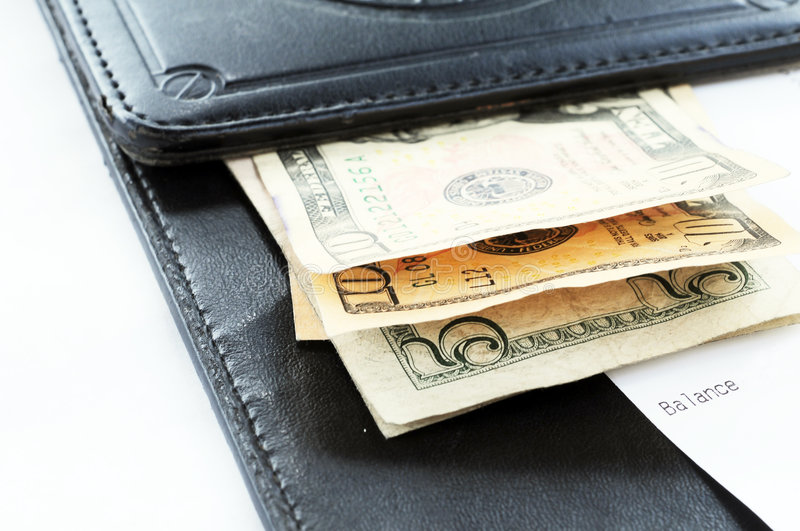 Check with cash stock photography
