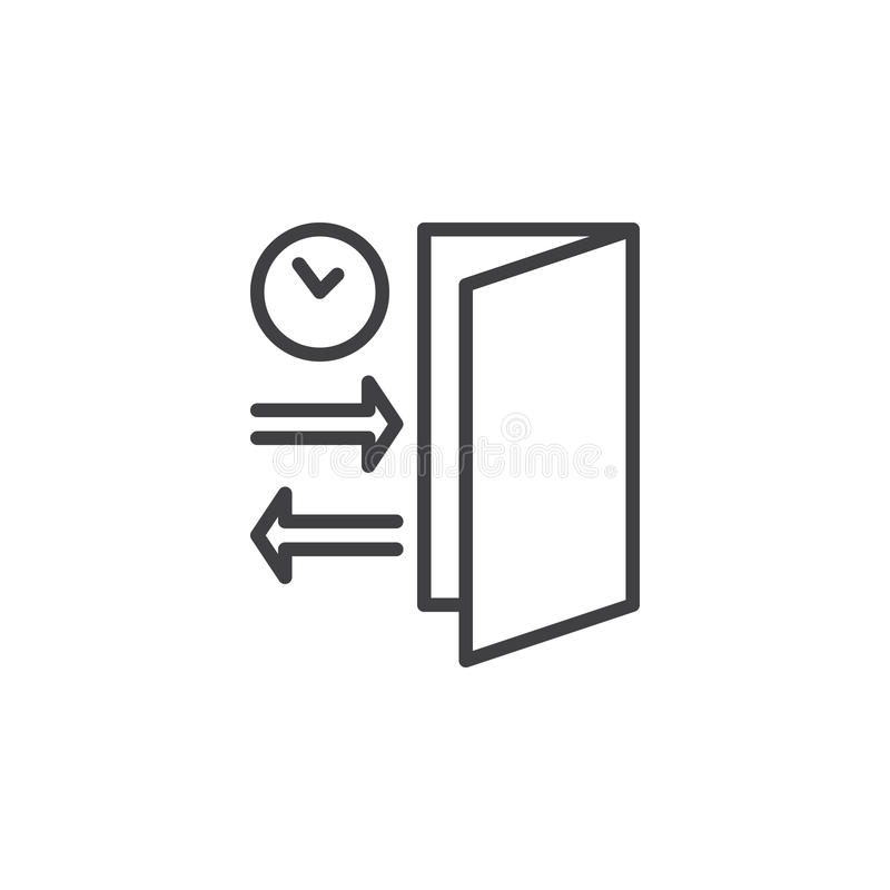 Check In Check Out Line Icon Outline Vector Sign Linear Pictogram
