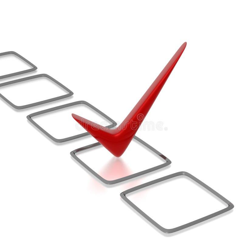 check checklist red иллюстрация штока