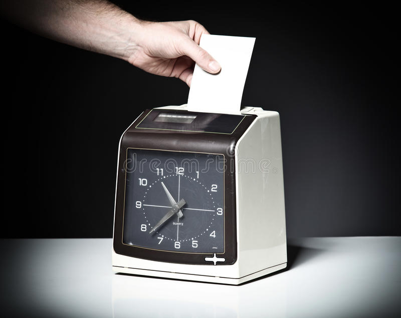 Download Check clock stock image. Image of employee, card, grunge - 26807407
