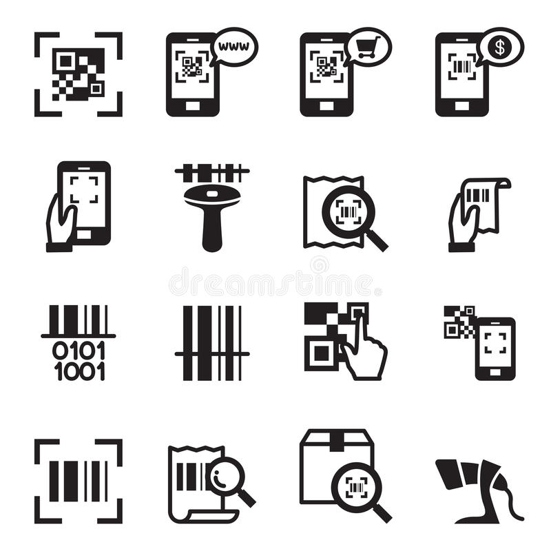 Check Code Barcode Qr Code Reader Icons Set Stock Vector Illustration Of Code Generate 72473425