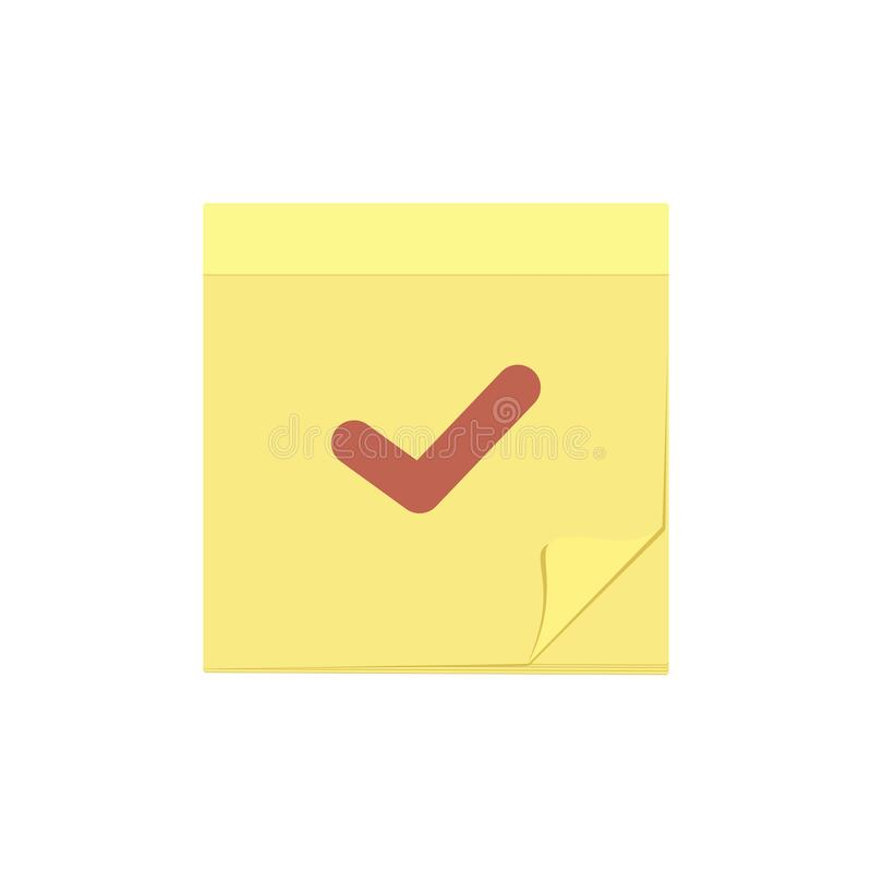 Check comment mark message note task icon vector illustration