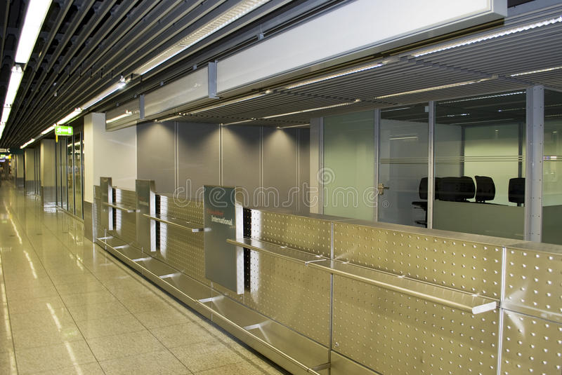 Download Check-in Counters In The Airport. Stock Image - Image: 10450157