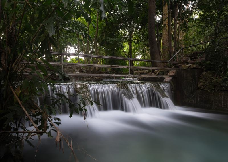 Check Dam,at khao yai ,thailand. Check Dam is the construction of the river. It usually blocks small streams of creeks in upstream areas or areas with high stock photo