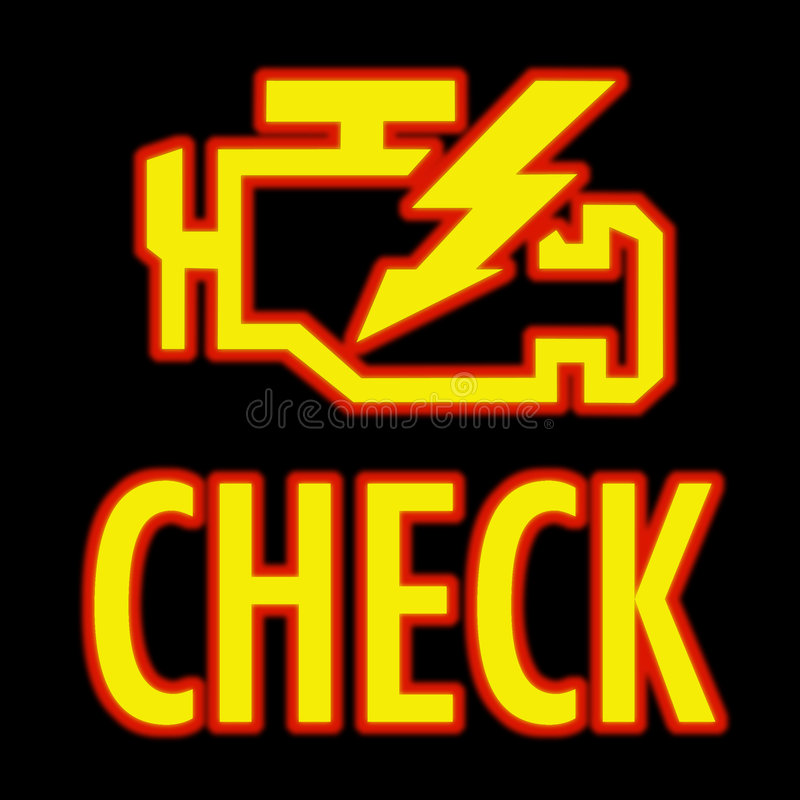 Check engine light stock illustration. Image of warning ...