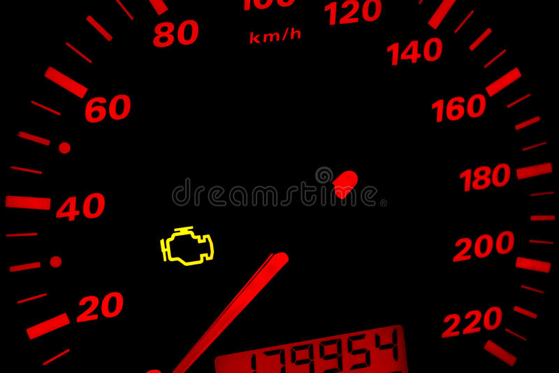 Check engine light. royalty free stock images