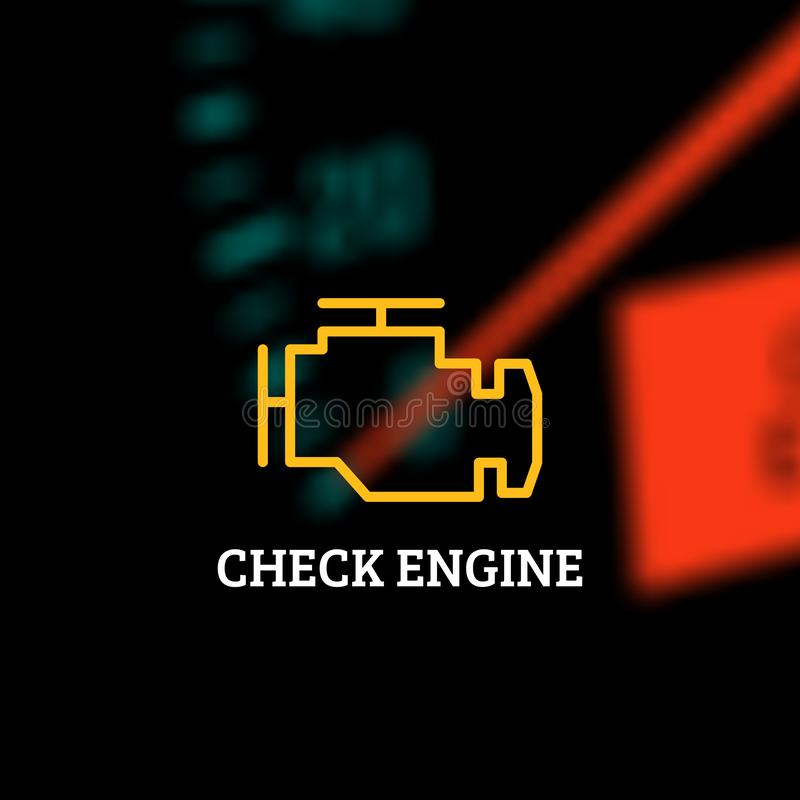 Check Engine Light Symbol Stock Illustrations – 292 Check
