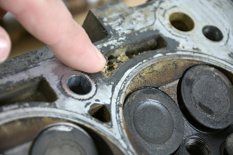 Check the engine stock photo