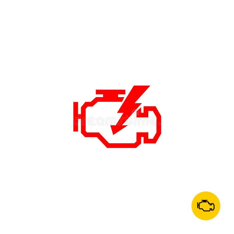 Check engine sign stock illustration