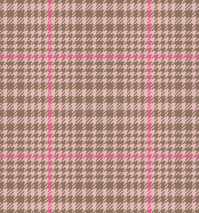 Check Fashion Seamless Pattern. Check fashion tweed beige, pink and nude seamless pattern for fashion textile prints, wallpaper, wrapping, fabric imitation and stock illustration