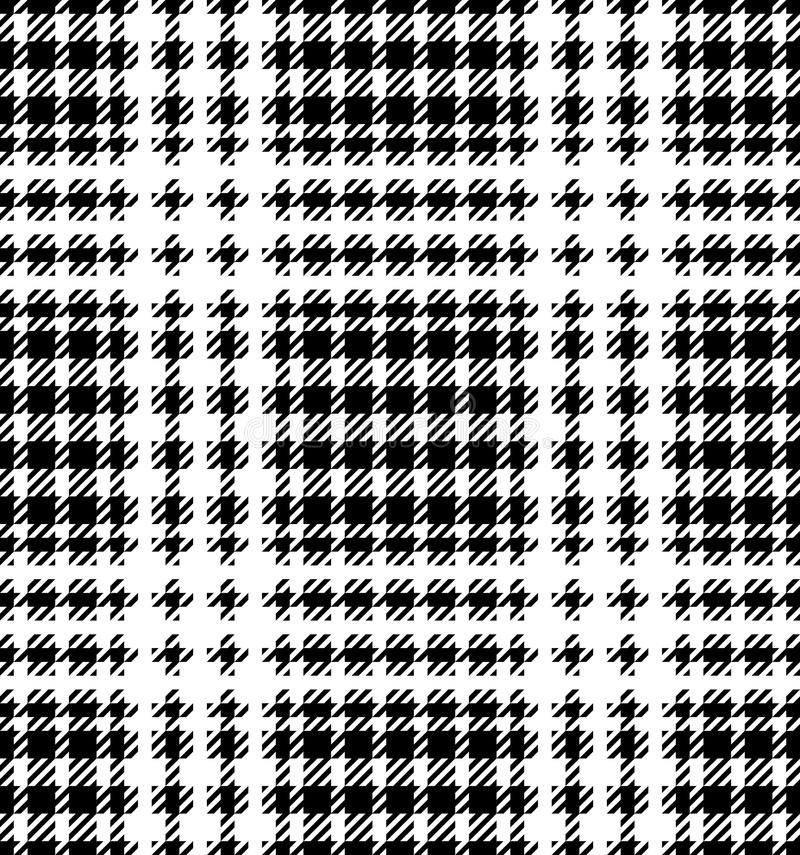 Check Fashion Seamless Pattern. Check fashion tweed white and black seamless pattern for fashion textile prints, wallpaper, wrapping, fabric imitation and stock illustration