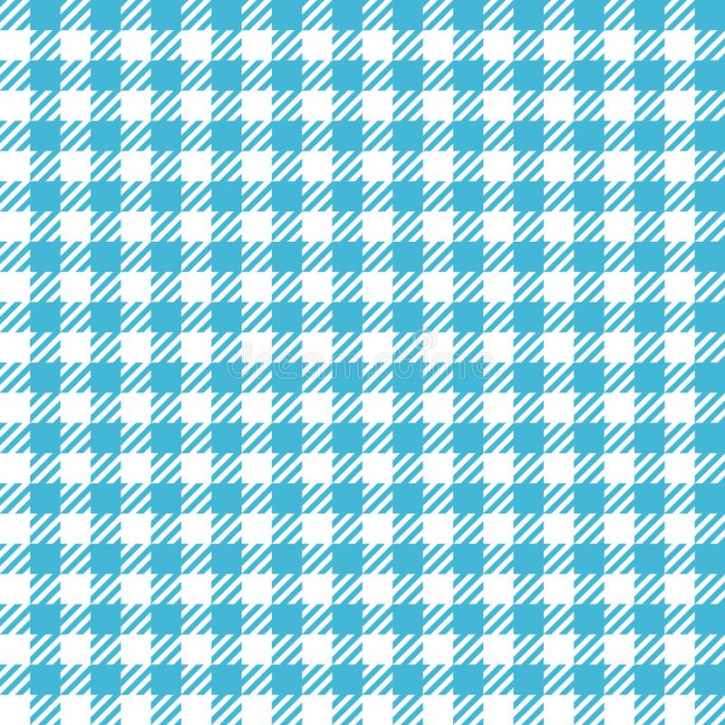 Check Fashion Seamless Pattern. Check fashion tweed white and blue seamless pattern for textile prints, wallpaper, wrapping, fabric imitation and backgrounds royalty free illustration