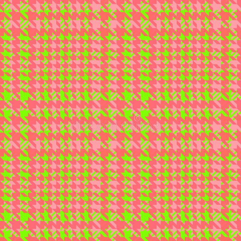 Check Fashion Seamless Pattern. Vector Repeat Background. Check fashion tweed green and coral seamless pattern for fashion textile prints, wallpaper, wrapping royalty free illustration