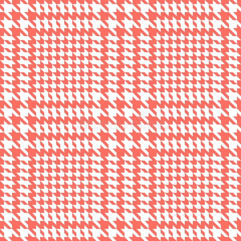 Check Fashion Seamless Pattern. Vector Repeat Background. Check fashion tweed white and coral seamless pattern for fashion textile prints, wallpaper, wrapping vector illustration